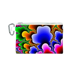 Fractal Background Pattern Color Canvas Cosmetic Bag (s)