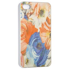 Texture Fabric Textile Detail Apple Iphone 4/4s Seamless Case (white)