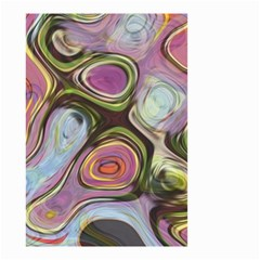 Retro Background Colorful Hippie Small Garden Flag (two Sides)