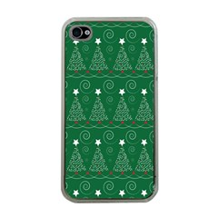 Christmas Tree Holiday Star Apple Iphone 4 Case (clear)