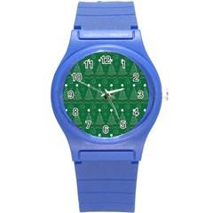 Christmas Tree Holiday Star Round Plastic Sport Watch (s)