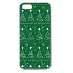 Christmas Tree Holiday Star Apple Seamless Iphone 5 Case (clear)