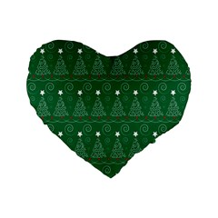 Christmas Tree Holiday Star Standard 16  Premium Heart Shape Cushions