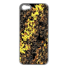 The Background Wallpaper Gold Apple Iphone 5 Case (silver)