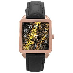 The Background Wallpaper Gold Rose Gold Leather Watch