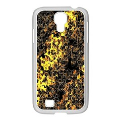 The Background Wallpaper Gold Samsung Galaxy S4 I9500/ I9505 Case (white)