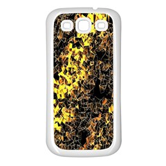The Background Wallpaper Gold Samsung Galaxy S3 Back Case (white)