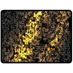 The Background Wallpaper Gold Double Sided Fleece Blanket (large)