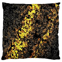 The Background Wallpaper Gold Large Flano Cushion Case (one Side)