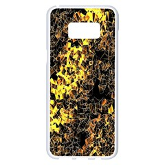 The Background Wallpaper Gold Samsung Galaxy S8 Plus White Seamless Case