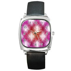 Background Texture Pattern 3d Square Metal Watch