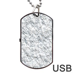 Pattern Background Old Wall Dog Tag Usb Flash (two Sides)