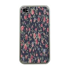 Pattern Flowers Pattern Flowers Apple Iphone 4 Case (clear)