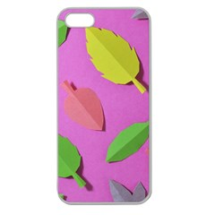 Leaves Autumn Nature Trees Apple Seamless Iphone 5 Case (clear)