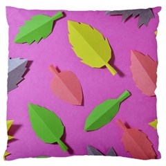 Leaves Autumn Nature Trees Standard Flano Cushion Case (one Side)