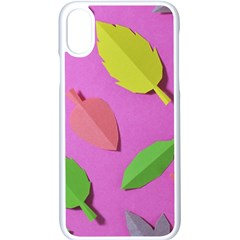 Leaves Autumn Nature Trees Apple Iphone X Seamless Case (white)