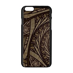 Abstract Pattern Graphics Apple Iphone 6/6s Black Enamel Case