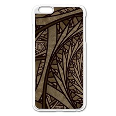 Abstract Pattern Graphics Apple Iphone 6 Plus/6s Plus Enamel White Case