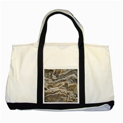 Texture Marble Abstract Pattern Two Tone Tote Bag