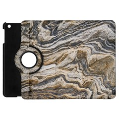 Texture Marble Abstract Pattern Apple Ipad Mini Flip 360 Case