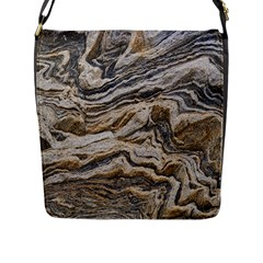 Texture Marble Abstract Pattern Flap Messenger Bag (l)