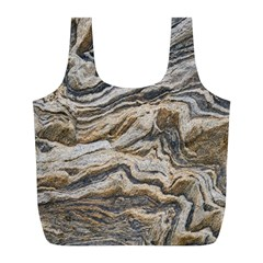 Texture Marble Abstract Pattern Full Print Recycle Bags (l)