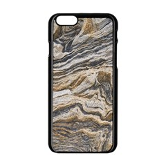 Texture Marble Abstract Pattern Apple Iphone 6/6s Black Enamel Case