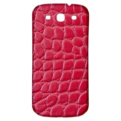 Textile Texture Spotted Fabric Samsung Galaxy S3 S Iii Classic Hardshell Back Case