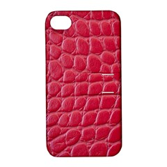 Textile Texture Spotted Fabric Apple Iphone 4/4s Hardshell Case With Stand