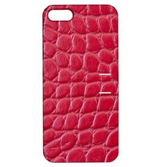 Textile Texture Spotted Fabric Apple Iphone 5 Hardshell Case With Stand