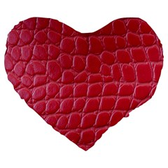Textile Texture Spotted Fabric Large 19  Premium Flano Heart Shape Cushions