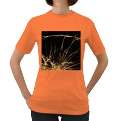 Background Abstract Structure Women s Dark T Shirt