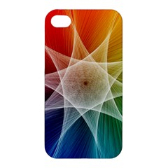 Abstract Star Pattern Structure Apple Iphone 4/4s Premium Hardshell Case