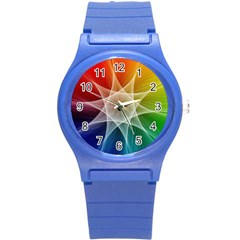 Abstract Star Pattern Structure Round Plastic Sport Watch (s)