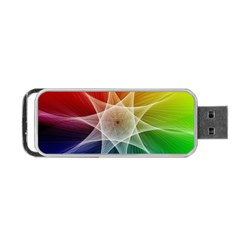 Abstract Star Pattern Structure Portable Usb Flash (one Side)