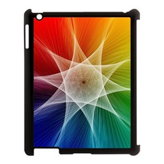 Abstract Star Pattern Structure Apple Ipad 3/4 Case (black)