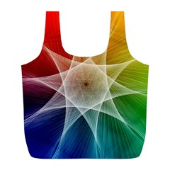 Abstract Star Pattern Structure Full Print Recycle Bags (l)