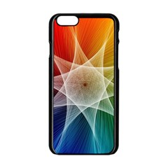 Abstract Star Pattern Structure Apple Iphone 6/6s Black Enamel Case