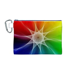 Abstract Star Pattern Structure Canvas Cosmetic Bag (m)