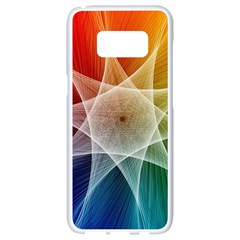 Abstract Star Pattern Structure Samsung Galaxy S8 White Seamless Case