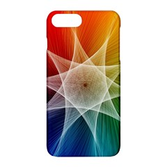 Abstract Star Pattern Structure Apple Iphone 8 Plus Hardshell Case