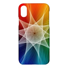 Abstract Star Pattern Structure Apple Iphone X Hardshell Case
