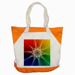 Abstract Star Pattern Structure Accent Tote Bag