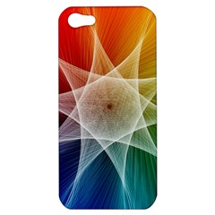 Abstract Star Pattern Structure Apple Iphone 5 Hardshell Case