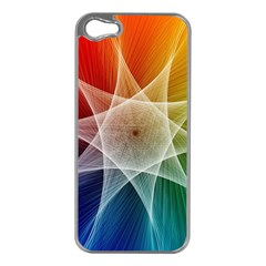 Abstract Star Pattern Structure Apple Iphone 5 Case (silver)
