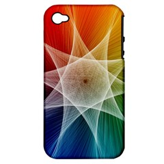 Abstract Star Pattern Structure Apple Iphone 4/4s Hardshell Case (pc+silicone)