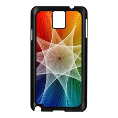 Abstract Star Pattern Structure Samsung Galaxy Note 3 N9005 Case (black)