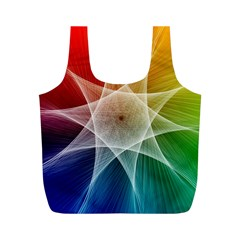 Abstract Star Pattern Structure Full Print Recycle Bags (m)