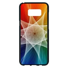 Abstract Star Pattern Structure Samsung Galaxy S8 Plus Black Seamless Case