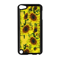 Sun Flower Pattern Background Apple Ipod Touch 5 Case (black)